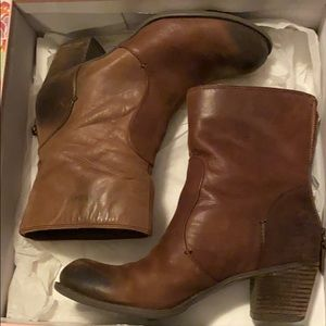 Copper brown booties by Crown Vintage